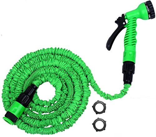 Deluxe-Expandable-Garden-Hose-Pipe-Original-and-Best-Pampered-Gardens-50-Foot-WonderHose-expanded-length-dependent-on-water-pressure-Fits-Hozelock-Style-Fittings-Tap-to-Pressure-Washer-Suitable-Profes-0