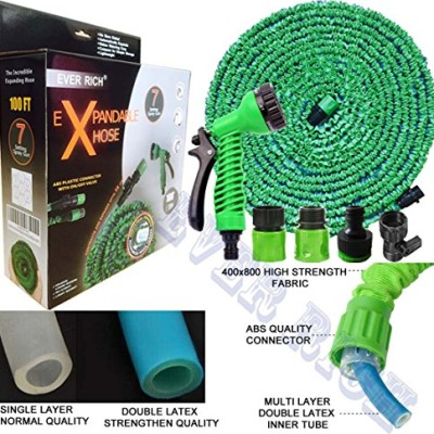 EVER-RICH-GREEN-100FT-EXPANDABLE-GARDENHOSE-LIGHT-WEIGHT-NON-KINK-WATER-SPRAY-NOZZLE-WITH-CONNECTORS-AND-ONOFF-VALVE-STRONG-OUTER-SIDE-WEBING-WITH-600X600D-FABRIC-AND-INNER-HOSE-COMES-WITH-DURABAL-DOU-0