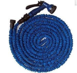 FLEXIBLE-EXPANDABLE-HOSE-PIPE-LIGHT-WEIGHT-NON-KINK-WATER-SPRAY-NOZZLE-Blue-100-ft-0