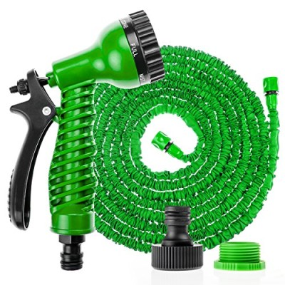 Savisto-75ft-Long-Expandable-Garden-Hose-With-Spray-Gun-Green-Also-available-in-100ft-0