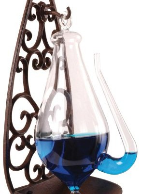Thunder-Glass-Barometer-with-Cast-Iron-Wall-Mount-0