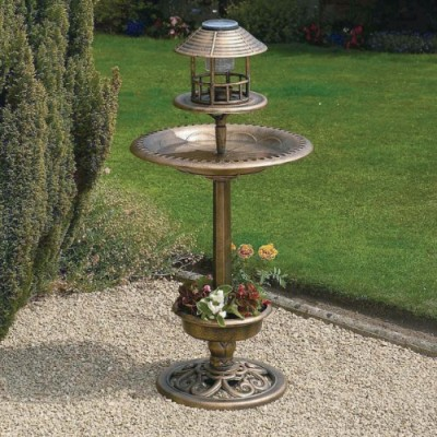 Bronze-Copper-Effect-Solar-Bird-Bath-Table-Bird-Hotel-0