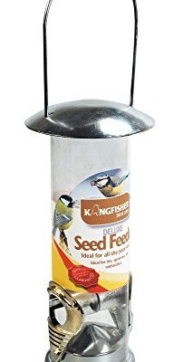 SEED-FEEDER-WILD-BIRD-DELUXE-STAINLESS-STEEL-GARDEN-HANGING-WILDLIFE-FOOD-FINCH-0