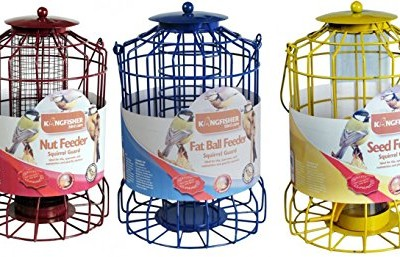 Set-of-3-x-Squirrel-Proof-Bird-Feeders-Nut-Seed-Fat-Ball-0