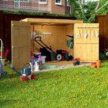 6×3-Overlap-Wooden-Pent-Bike-Log-Tool-Storage-Double-Door-Roof-Felt-Store-Shed-6ft-x-3ft-0-0