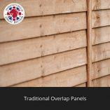 6×3-Overlap-Wooden-Pent-Bike-Log-Tool-Storage-Double-Door-Roof-Felt-Store-Shed-6ft-x-3ft-0-3