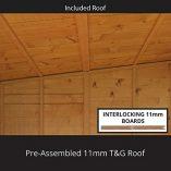 6×3-Overlap-Wooden-Pent-Bike-Log-Tool-Storage-Double-Door-Roof-Felt-Store-Shed-6ft-x-3ft-0-5