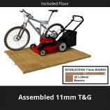 6×3-Overlap-Wooden-Pent-Bike-Log-Tool-Storage-Double-Door-Roof-Felt-Store-Shed-6ft-x-3ft-0-6