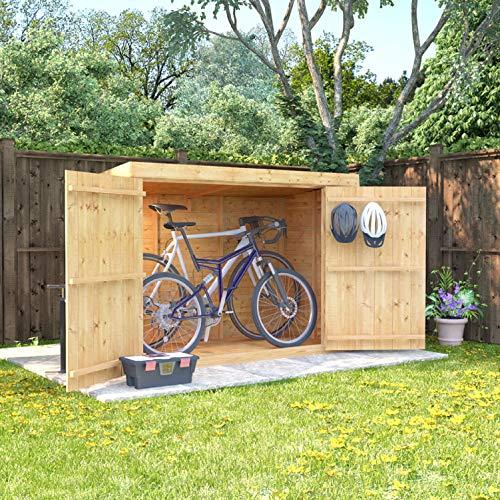 6x3-Overlap-Wooden-Pent-Bike-Log-Tool-Storage-Double-Door-Roof-Felt-Store-Shed-6ft-x-3ft-0