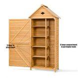 COSTWAY-Wooden-Garden-Shed-with-Slope-Roof-and-Lockable-Door-5-Shelves-Outdoor-Tool-Storage-Cabinet-in-Nature-70cm-X-355cm-X-176cm-0-0