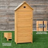 COSTWAY-Wooden-Garden-Shed-with-Slope-Roof-and-Lockable-Door-5-Shelves-Outdoor-Tool-Storage-Cabinet-in-Nature-70cm-X-355cm-X-176cm-0-1