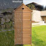 COSTWAY-Wooden-Garden-Shed-with-Slope-Roof-and-Lockable-Door-5-Shelves-Outdoor-Tool-Storage-Cabinet-in-Nature-70cm-X-355cm-X-176cm-0-2