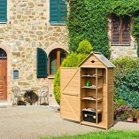 COSTWAY-Wooden-Garden-Shed-with-Slope-Roof-and-Lockable-Door-5-Shelves-Outdoor-Tool-Storage-Cabinet-in-Nature-70cm-X-355cm-X-176cm-0-4