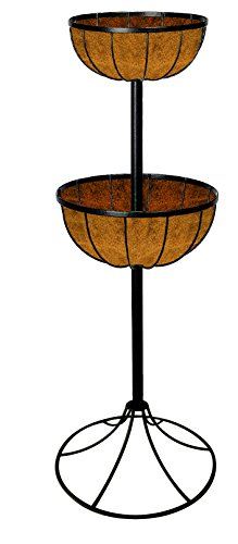 Gardman-00903-2-Tier-Georgian-Flower-Fountain-Black-0