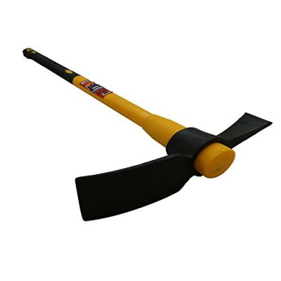 Mighty-Products-Heavy-Duty-5lb-Pick-axe-Grubbing-Mattock-Steel-Head-Fibreglass-Handle-shaft-90cm-36in-0