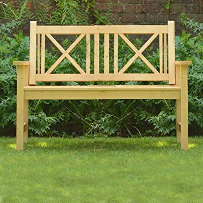 Sue-Ryder-Wooden-Garden-Bench-Seat-2-Seater-Solid-Natural-Wood-Outdoor-Seat-Traditional-Furniture-0