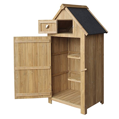 WilTec-Slim-utility-shed-made-of-fir-wood-with-a-tar-roof-770x540x1420mm-building-plans-garden-storage-0
