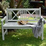 Wooden-Garden-Bench-2-Seater-Solid-Wood-Sage-Green-Outdoor-Seat-Traditional-Furniture-0-2