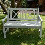 Wooden-Garden-Bench-2-Seater-Solid-Wood-Sage-Green-Outdoor-Seat-Traditional-Furniture-0-3