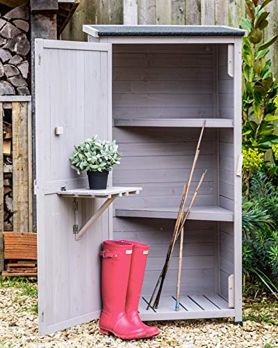 Wooden-Small-Shed-Storage-Tool-Utility-Stone-Garden-0