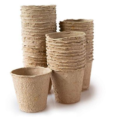 skycabin-8-cm-Round-Fibre-Plant-Pots-Garden-Planting-Biodegradable-Fibre-Seedling-Seedlings-Flowers-and-Vegetables-Organic-and-Eco-Friendly-Pack-of-48-0